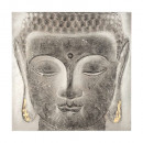 58x58x3,5 Buddhist pewter canvas, multicolored