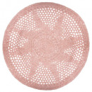 wholesale Bath & Towelling: crochet rug d.90 pink, pink