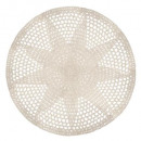 crochet rug d.90 white + gold, white
