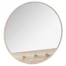 patere x3 + spiegel, veelkleurig