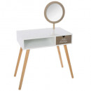golden mirror dressing table, multicolored