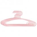 Großhandel Wäsche: Plastikaufhänger x 6 pink, pink