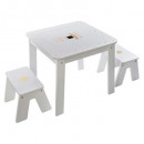 wholesale Children's Furniture: table + 2 stools girl, multicolored