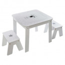 wholesale Children's Furniture: table bac + 2 stools boy, multicolored