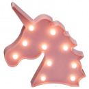 unicorn head 10 led, 2- times assorted , colors as