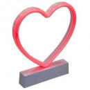 forma de corazón rojo llevó forma roja