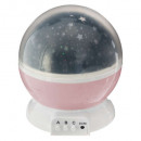 night light projo rotat. pink, pink