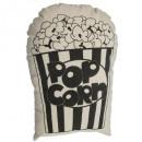 coussin pop corn, noir & blanc