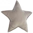 Poduszka gwiazda szara, szara