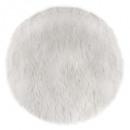 tapis fourrure ronde blanc, blanc
