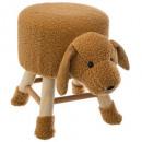 dog stool, brown