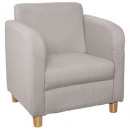 chic armchair light gray, light gray