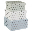 boxes carree x3 silver, multicolored