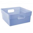 cubo de almacenamiento s azul, azul
