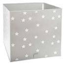 storage bin gray stars, gray