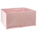 storage bin x2 pink stars, pink