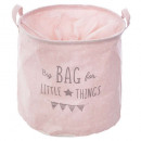 pink, pink canvas storage bag