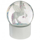 boule neige licorne 100mm, multicolore