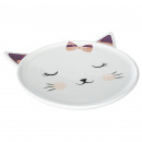 assiette chat, multicolore