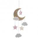 pink moon suspension, multicolored