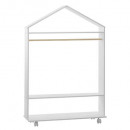 wardrobe with wheels, white
