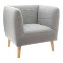 fauteuil gris molletonne, gris