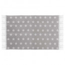 rug swaggy stars, gray