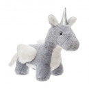 unicorn plush wings, gray