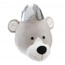 trophee teddybeer kroon, grijs