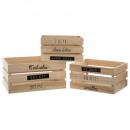 caja de madera x3, beige