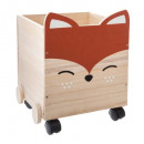 wooden box fox ears, multicolored