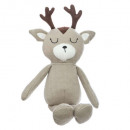 reindeer plush, gray