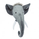 wholesale Dolls &Plush: trophee elephant plush, dark gray
