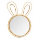 bunny mirror, beige