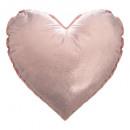 Cojín oro y corazón rosa, 2 veces surtido , colore
