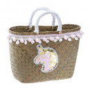 panier mini pompoms + licorne, multicolore
