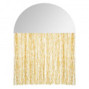 half circle fringes mirror, gold