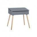 escritorio simple gris, gris