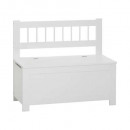 uni mdf bench, white