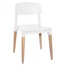 silla desiguirlande de polipropileno blanco, blanc
