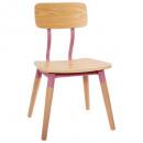 roze retro stoel, roze