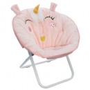unicorn folding fabric armchair, light pink