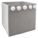 wholesale Household & Kitchen: storage chest pompom x 5 gray, gray