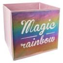 contenedor de almacenamiento arco iris c, multicol