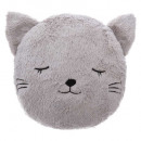 wholesale Garden & DIY store: Pillow round fur cat, multicolored