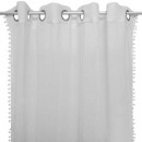 curtain pompoms 2 sides gray, gray