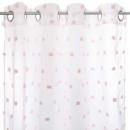 pink, pink multi-pompom curtain