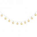 girlande star 8 led, blanco