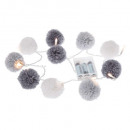 wholesale Party Items: girlande pompons gray 10l, gray