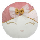 Pillow doll head, multicolored